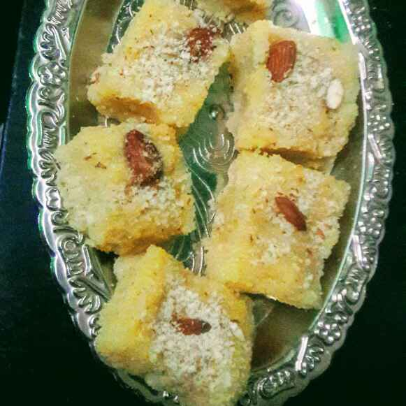 Photo of Godhuma ravva burfi by Anitha Rani at BetterButter