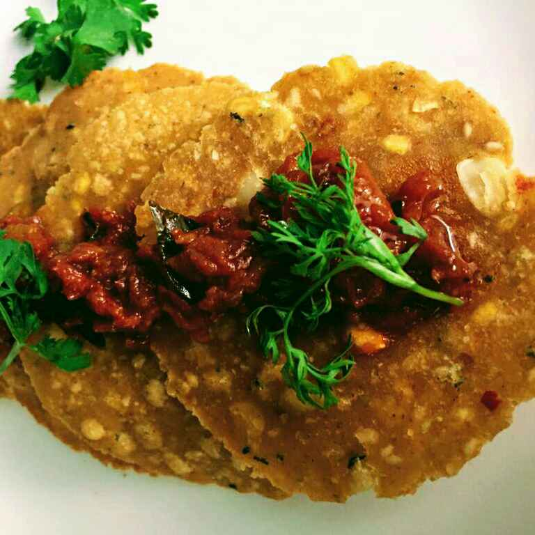 Photo of Moong studded kachori with tomato chutney by Anitha Rani at BetterButter