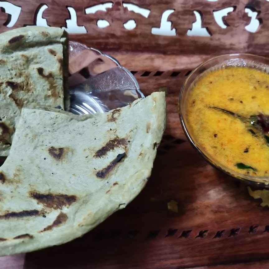 Photo of Raw Curry and Millet Roti by Anjali Kataria at BetterButter