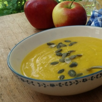 How to make pumpkin soup with apples