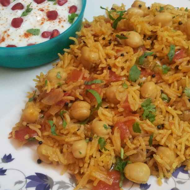 How to make Tomato Rice with Chickpeas