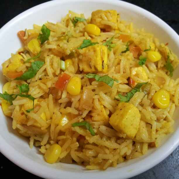 How to make Paneer and  Veg Fried Rice