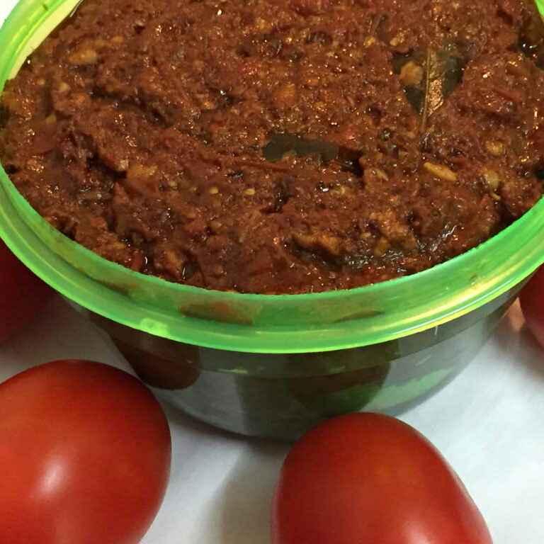 How to make Tomato Pickle / Thokku