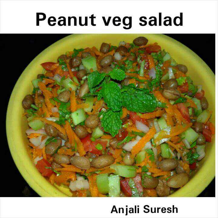 Photo of Peanut vegetable salad by Anjali Suresh at BetterButter