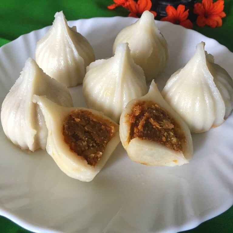 Photo of Ukadiche Modak with puranpoli style stuffing !! by Anjali Suresh at BetterButter