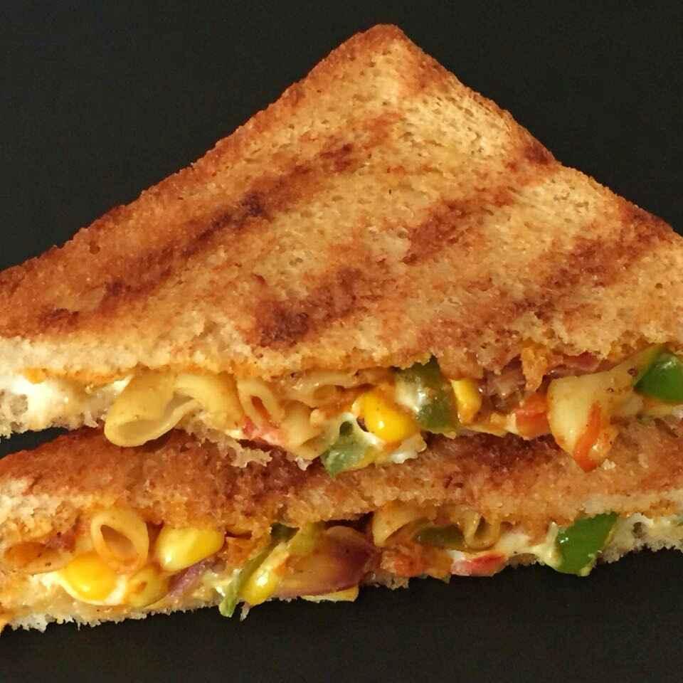 Photo of Cheesy macroni stuffed sandwich by Anjali Suresh at BetterButter