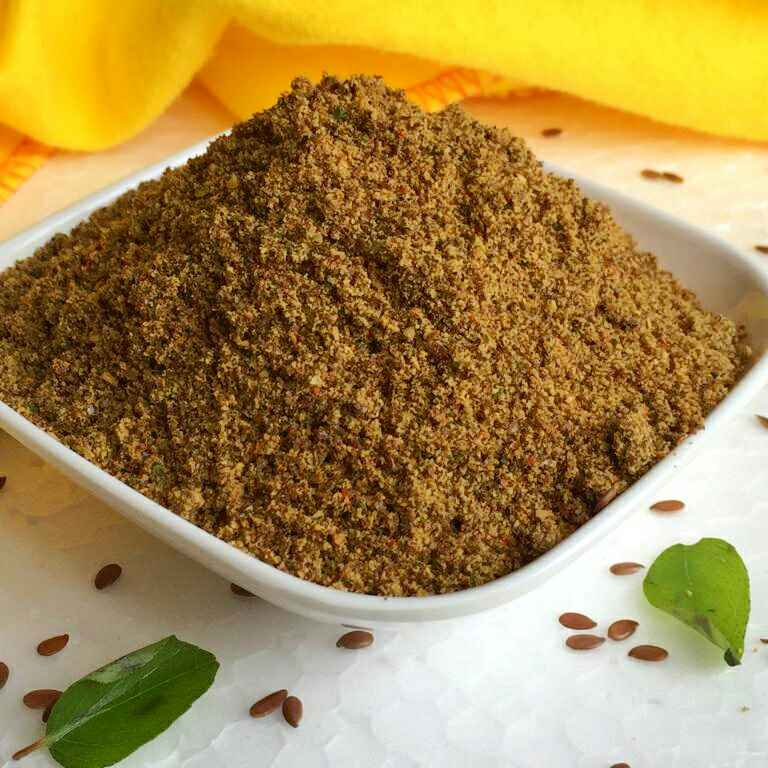 How to make Flax seeds & Curry leaves dry chutney