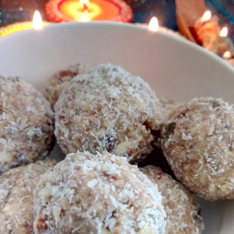 How to make Oats dry fruit ladoos