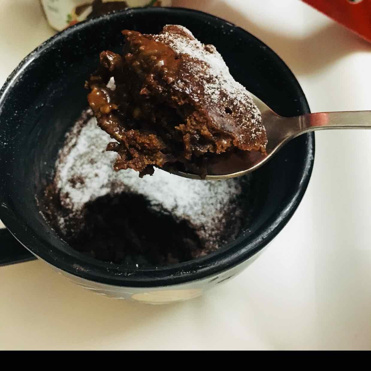 How to make Nutella mug cake
