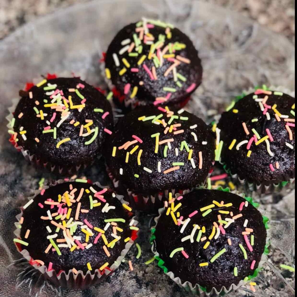 Photo of eggless chocolate muffins by Anjali Valecha at BetterButter