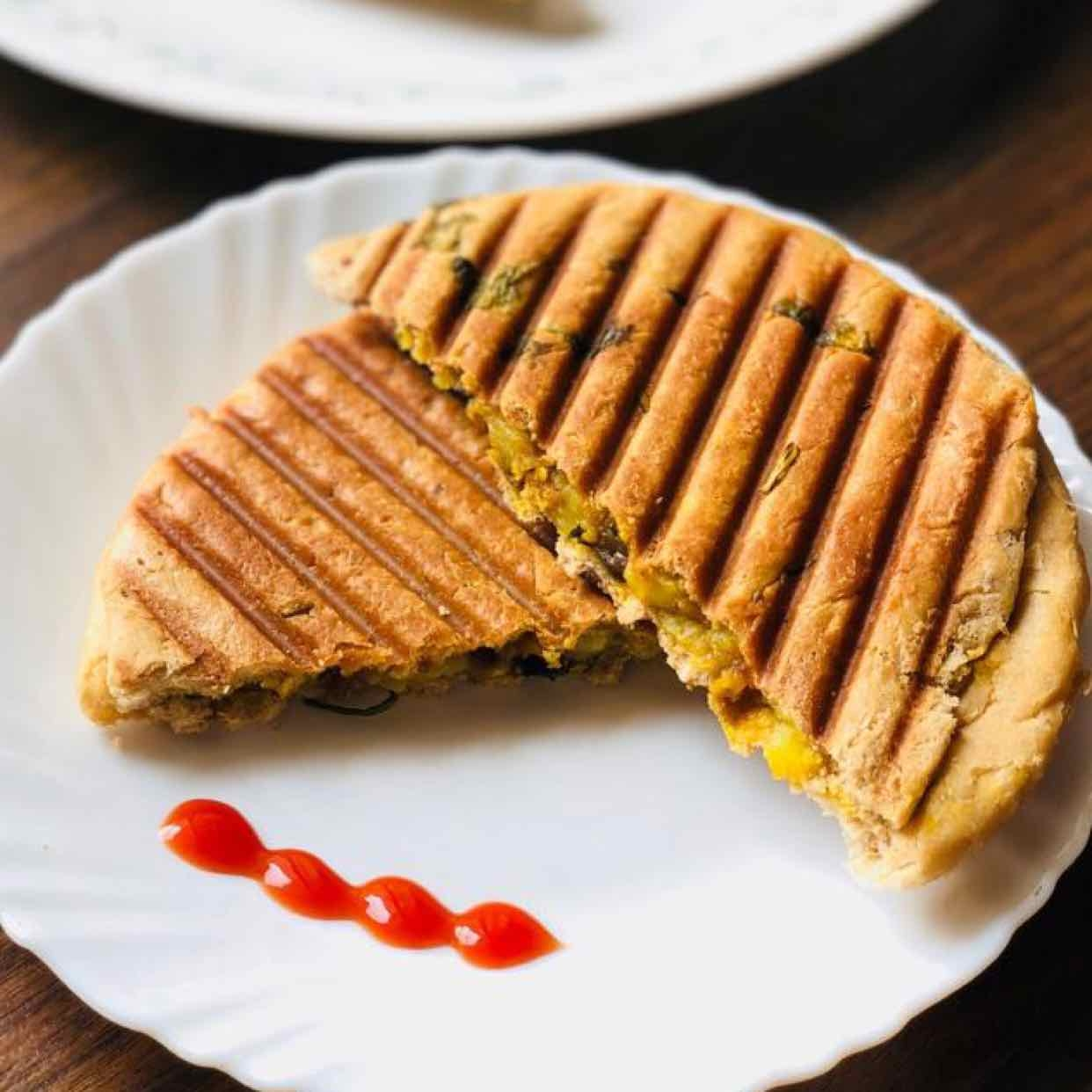 How to make kulcha grilled sandwich
