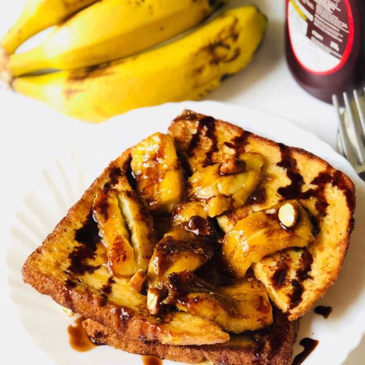 Photo of French toast with caramelized banana by Anjali Valecha at BetterButter