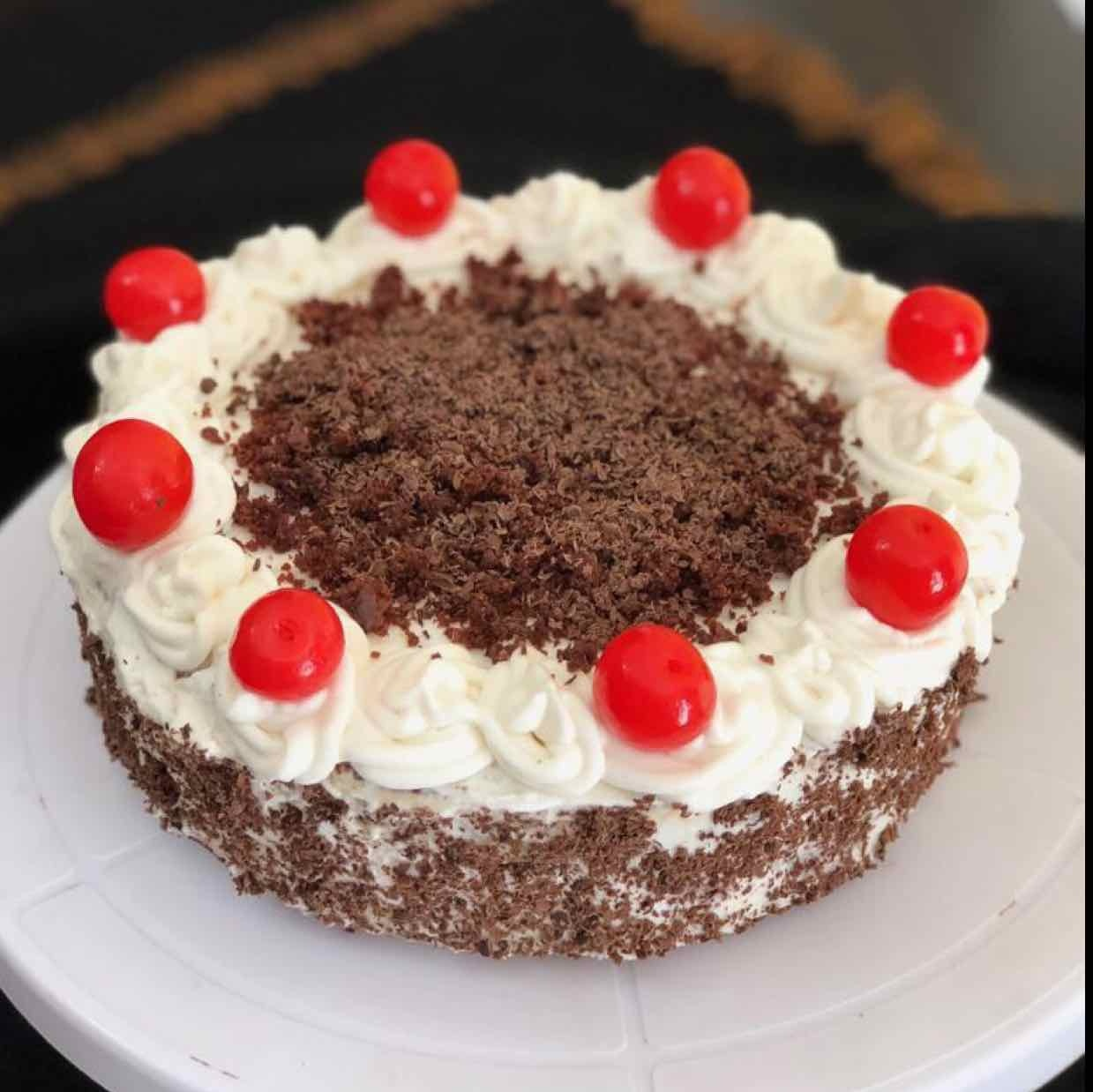 Photo of eggless Black Forest cake by Anjali Valecha at BetterButter