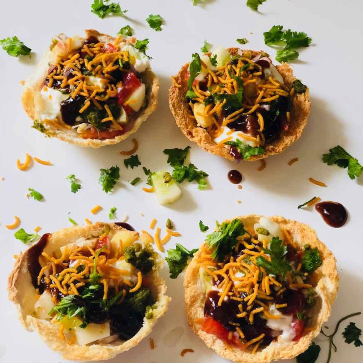 Photo of baked bread katori chaat by Anjali Valecha at BetterButter
