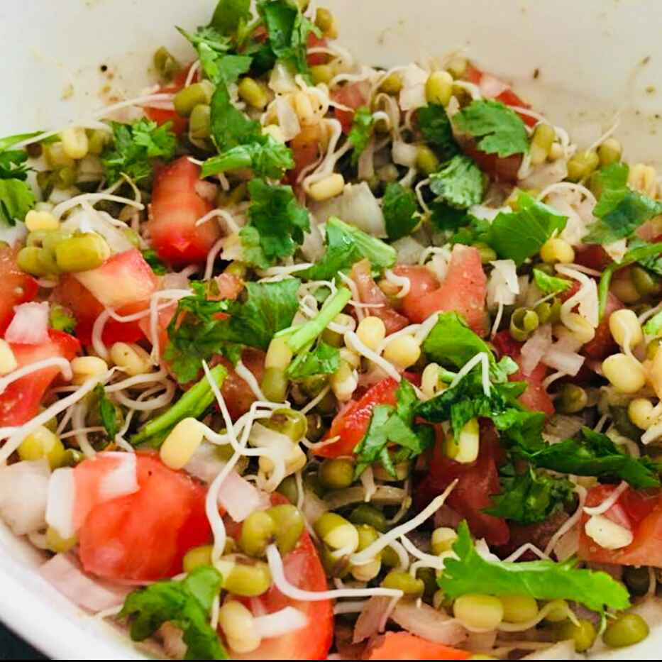 Photo of Sprouted moong salad by Anjali Valecha at BetterButter