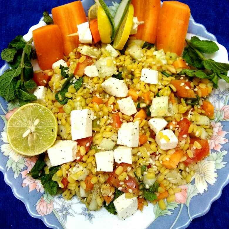 Photo of Warm sesame vegetable lentil salad by Anjali sunayna Verma at BetterButter