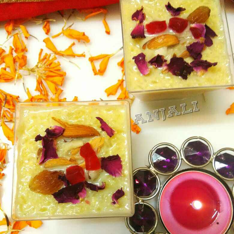 Photo of Gulab meva seb payasam by Anjali sunayna Verma at BetterButter