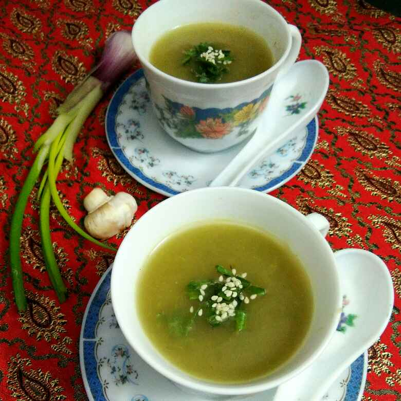 Photo of MUSHROOM SPRING ONION SOUP(NO MAIDA, NO CREAM) by Anjali sunayna Verma at BetterButter