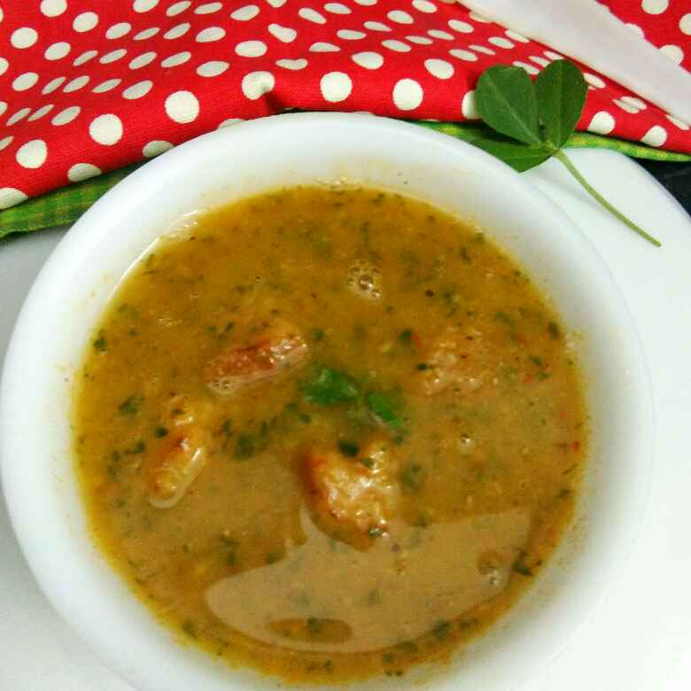 Photo of Fenugreek lentils soup by Anjali sunayna Verma at BetterButter
