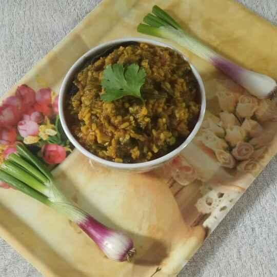 Photo of Spring onions and moong daal ki sabzi by Anjani Rajwar at BetterButter