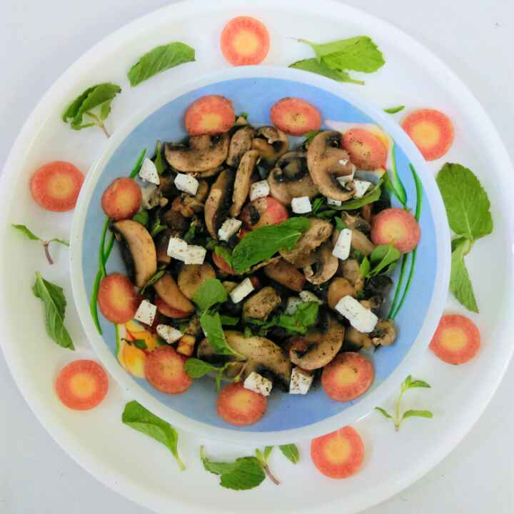 How to make Mushroom Salad with Italian dressing