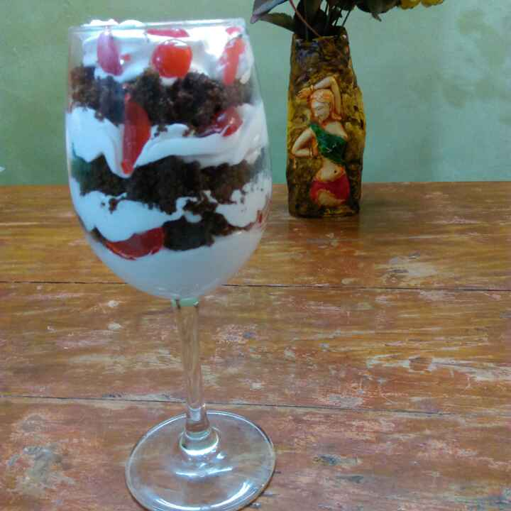 Photo of Black forest in a glass  by Anju Bhagnari at BetterButter