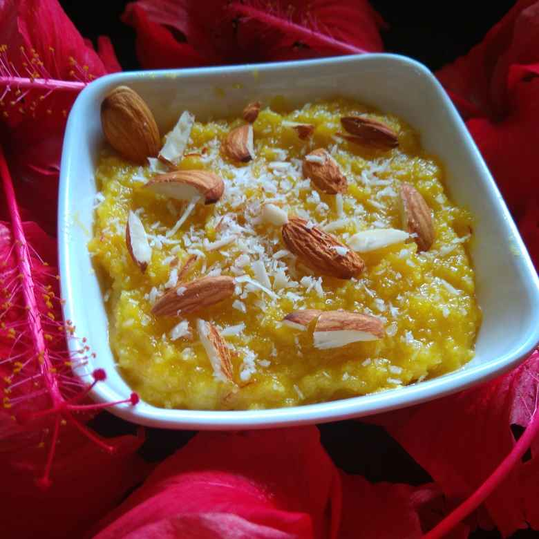 Photo of Almond and shredded coconut halwa by Ankita Tahilramani at BetterButter