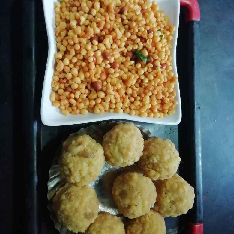 How to make బూందీ లడ్డూ మిక్చ్ ర్