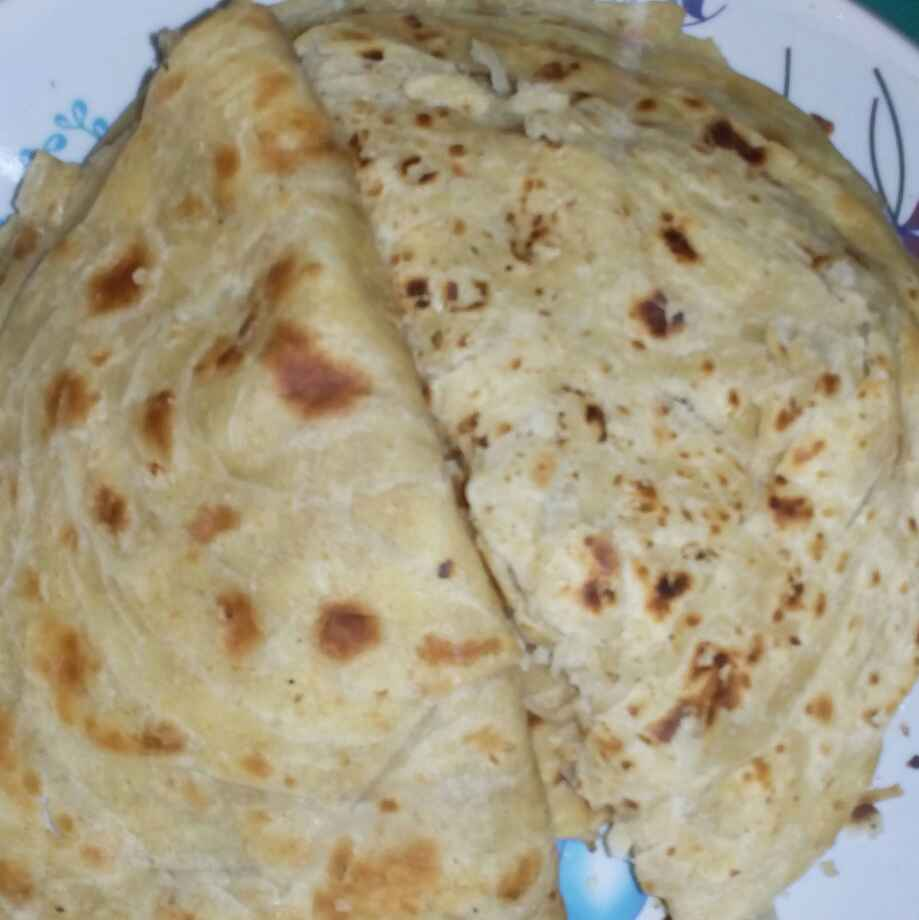 Photo of cauliflower curry layers parata by మొహనకుమారి jinkala at BetterButter