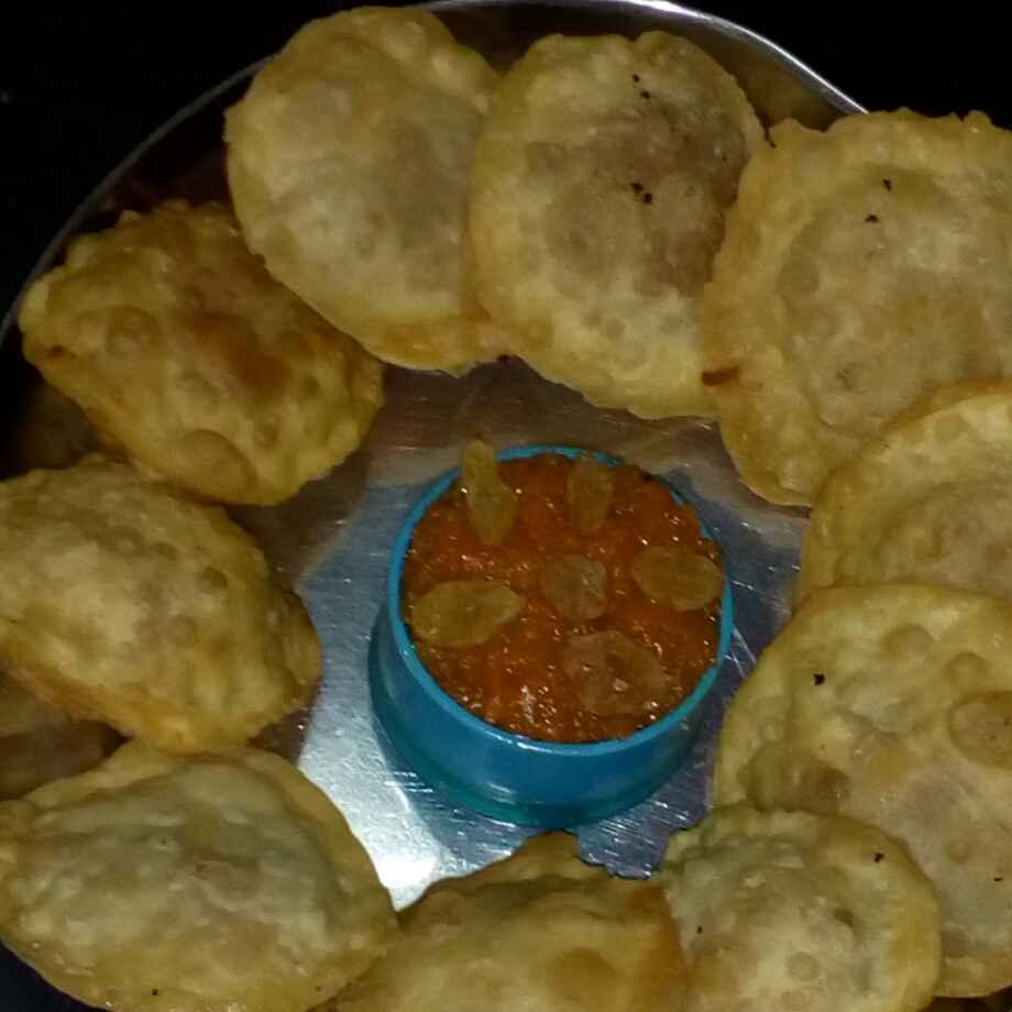 Photo of carrot halwa sweet kachori by మొహనకుమారి jinkala at BetterButter