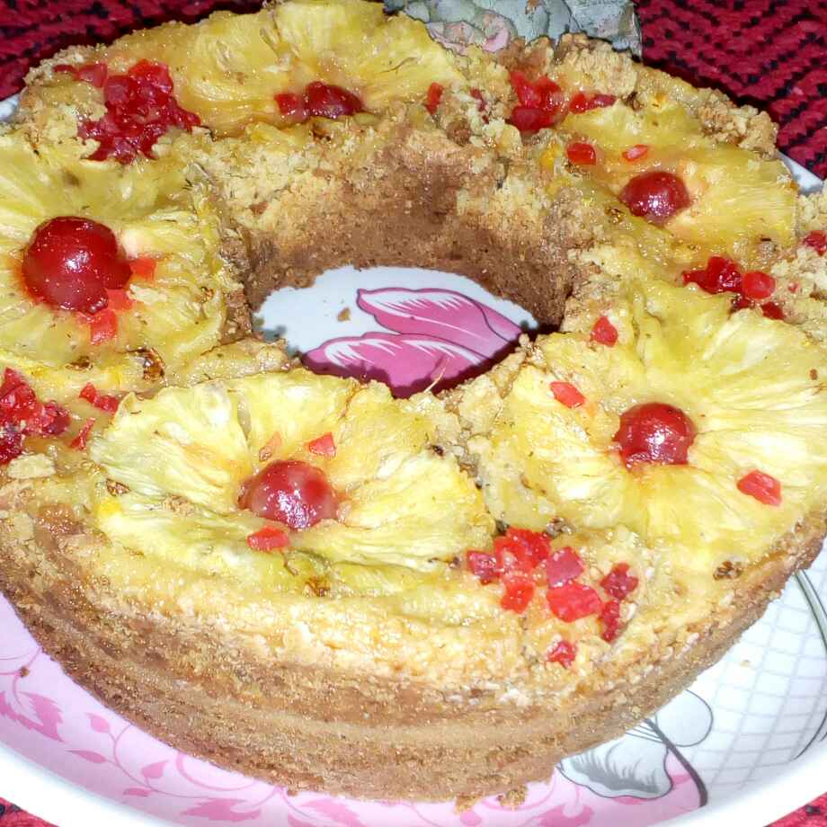 Photo of Pineapple up side downcake by మొహనకుమారి jinkala at BetterButter