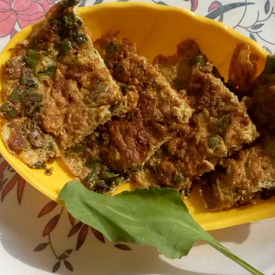 Photo of Spinach spring onions omlette by మొహనకుమారి jinkala at BetterButter