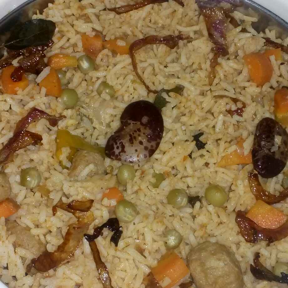 Photo of Double red beans veg pulav by మొహనకుమారి jinkala at BetterButter