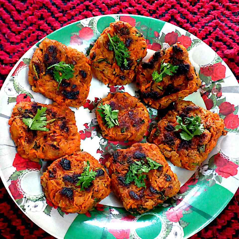 How to make CARROT poha cutlet