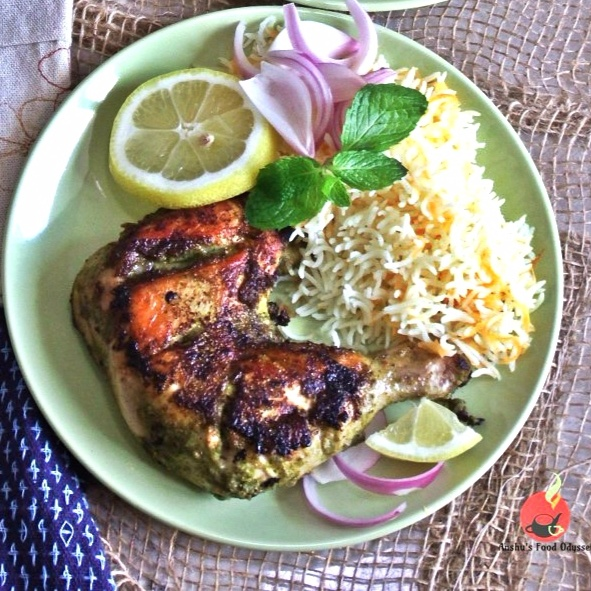 How to make Hariyali Chicken Tangdi Kabab