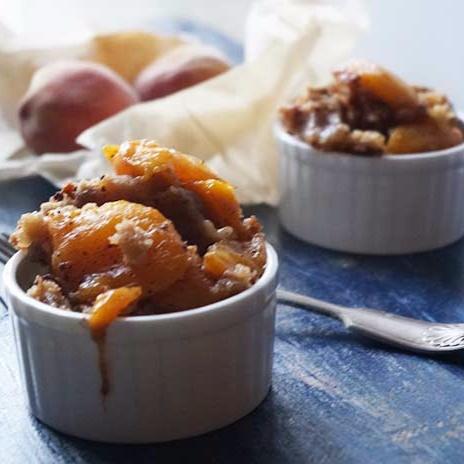 Photo of Eggless Fresh Peach Cobbler by Anshu Pande at BetterButter