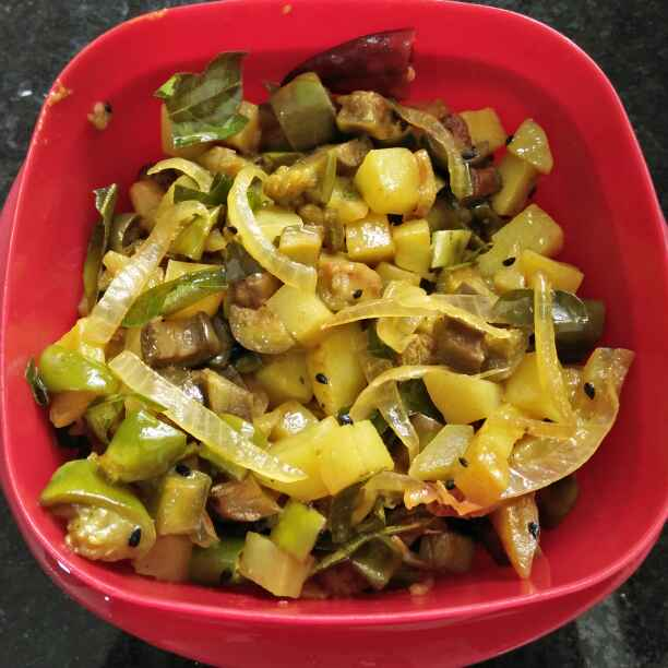 Photo of South indian brinjal potato fry by antara basu de at BetterButter