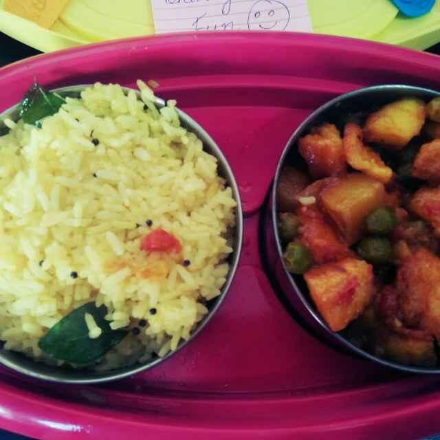 Photo of Lemon rice and alu matar panner by antara basu de at BetterButter