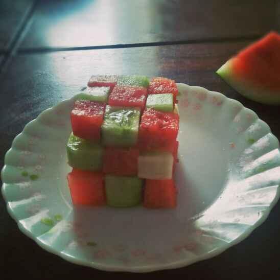 Photo of cube summer salad by antara basu de at BetterButter