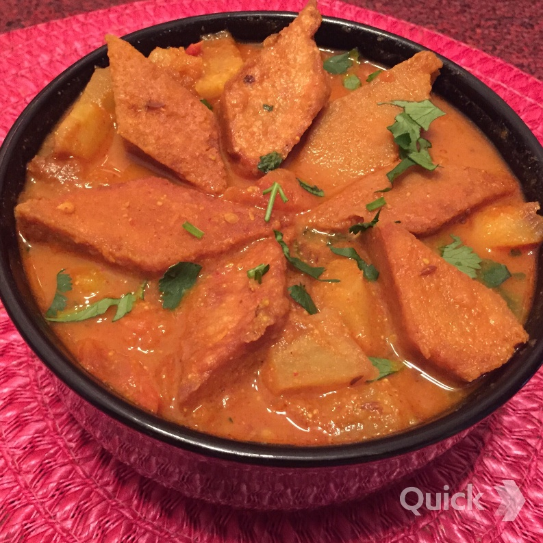 Photo of Dhokar Dalna (Fried Lentil Cakes in Bengali curry) by Antara Navin at BetterButter