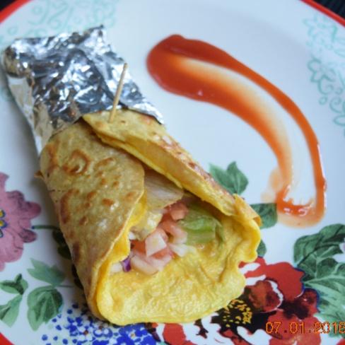 How to make Kolkata Stye Egg Roll