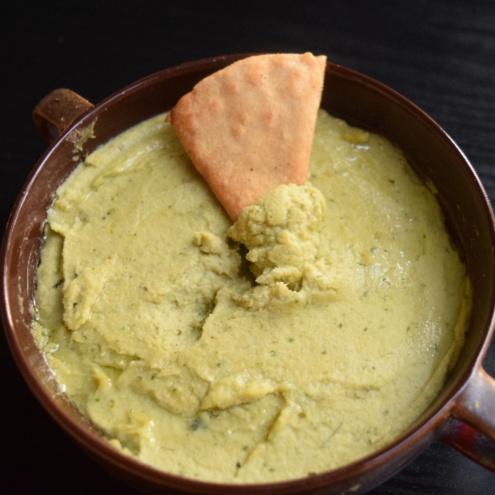 Photo of Pita Chips with Spicy Pesto Hummus by Antara Navin at BetterButter