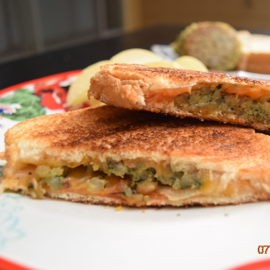 Photo of Grilled Vegetarian Patty Melts by Antara Navin at BetterButter
