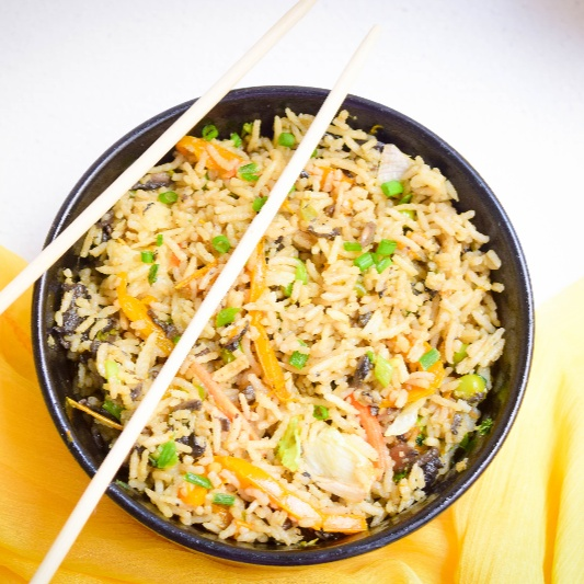 Photo of TriColor Mushrooms Capsicum Indo Chinese Fried Rice by Antara Navin at BetterButter