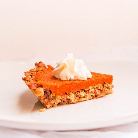 Photo of Almond Raisins Crust Pie filled with Indian Carrot Pudding  by Antara Navin at BetterButter