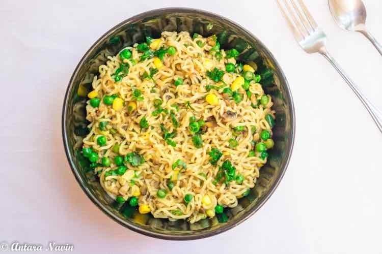 How to make Indian Spice and White Pepper Stir Fry Veggies Noodles