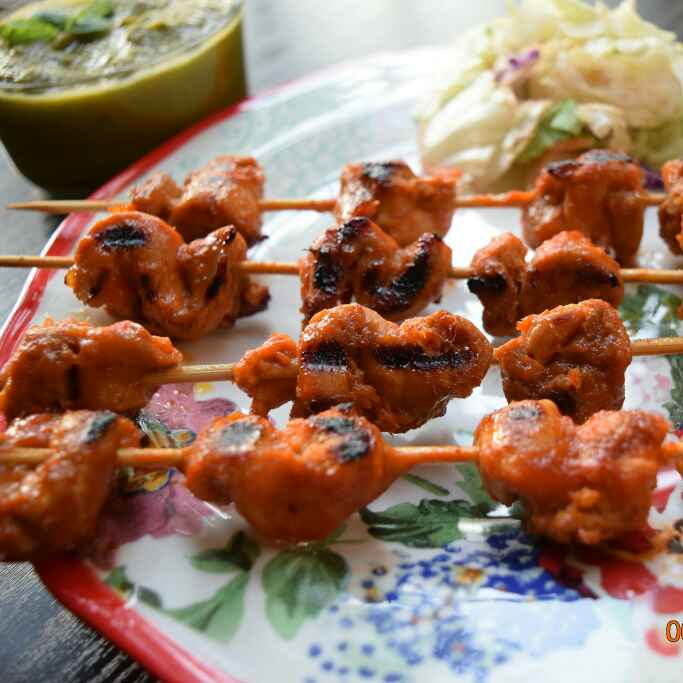 Photo of Sweet and Spicy Mango Chicken Kebabs by Antara Navin at BetterButter