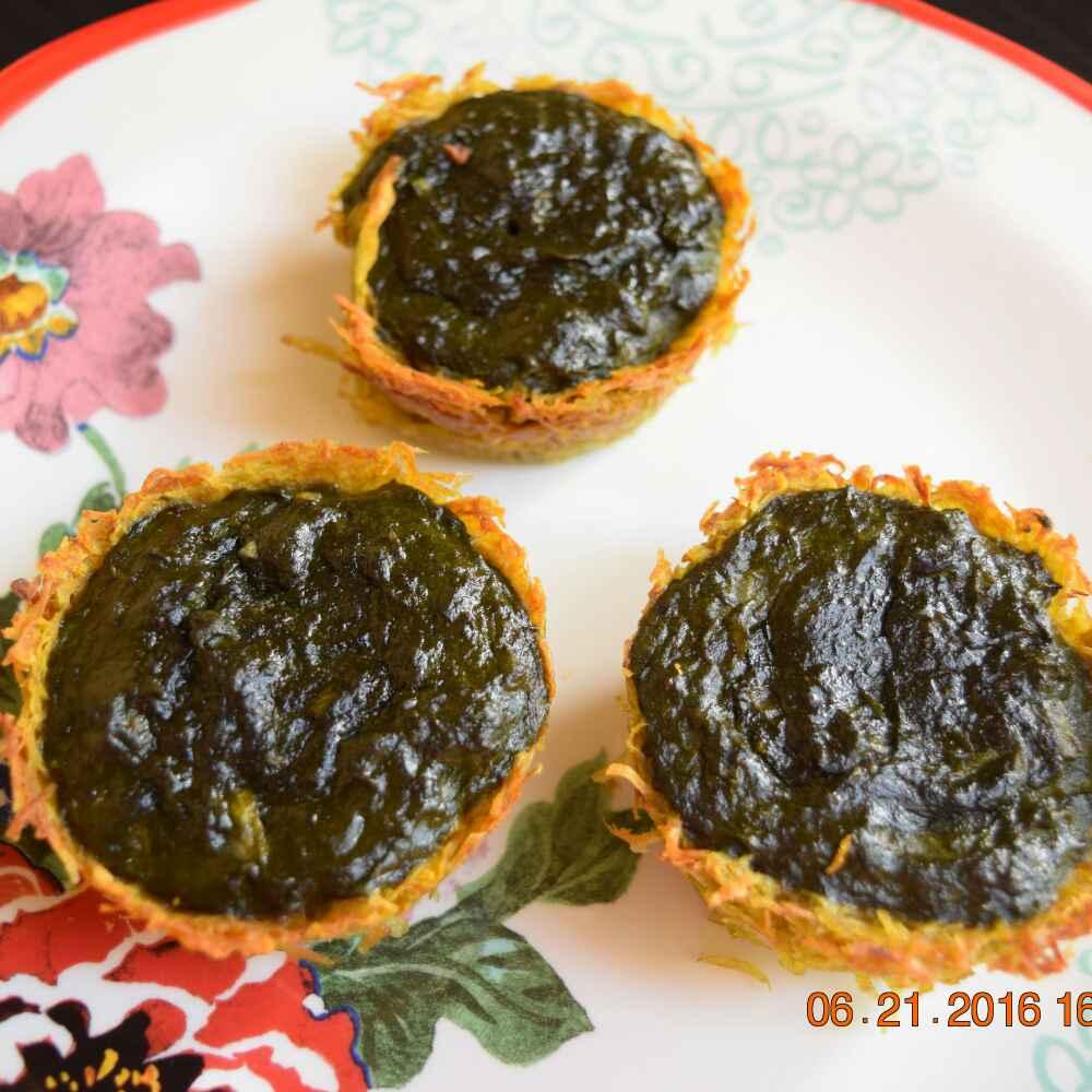 Photo of Crunchy Potatoes Spinach Nest by Antara Navin at BetterButter
