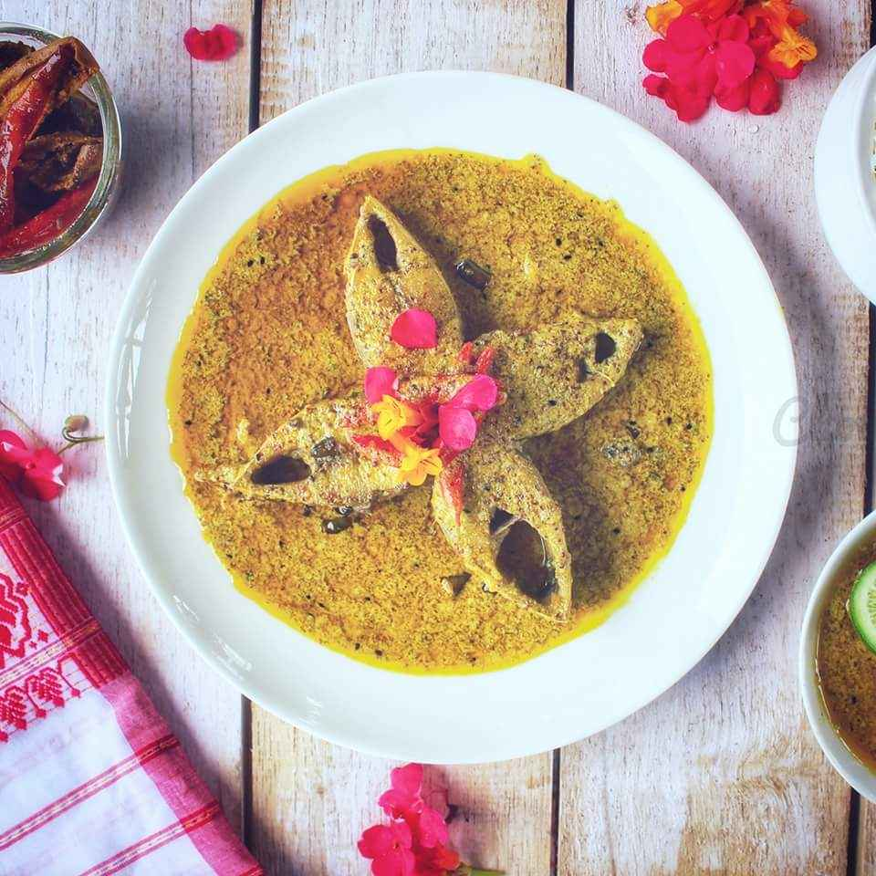 How to make Hilsha Fish With Curd and Mustard paste