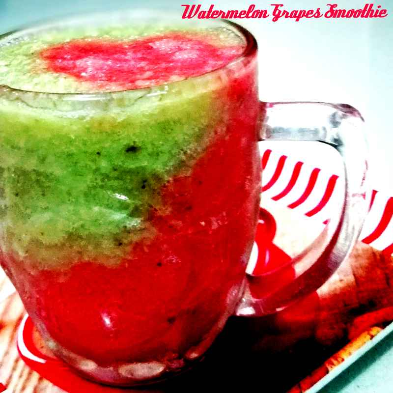 Photo of Watermelon Grapes Smoothie by Antara Chakraborty at BetterButter